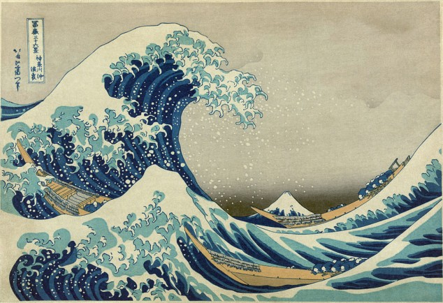 """Great wave off Kanagawa"" by Hokusai"